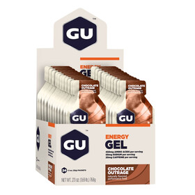 GU Energy Gel Box Chocolate Outrage 24 x 32g